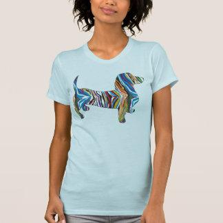 Dachshund psicodélico tee shirt
