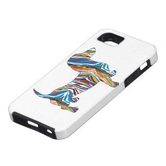 Dachshund psicodélico retro iPhone 5 protectores