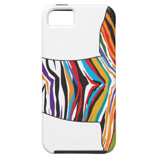 Dachshund - Psychedelic Zbra Doxie iPhone 5 Case