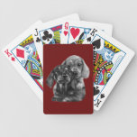 Dachshund Puppies Drawing Bicycle Card Deck