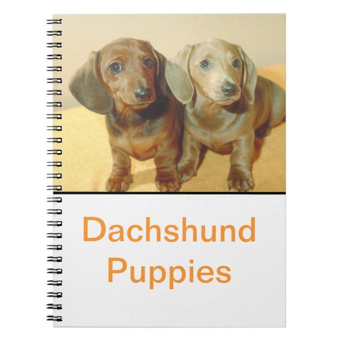 Dachshund Puppies Notebook
