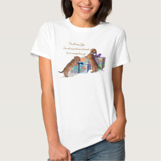 Dachshund Puppies with their gifts T Shirt