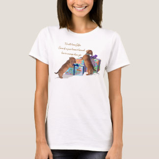 Dachshund Puppies with their gifts T-Shirt