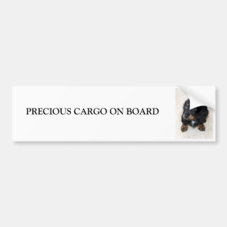 Dachshund puppy dog cute custom bumper sticker