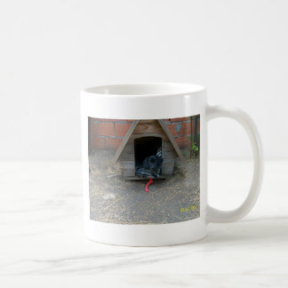Dachshund puppy in doghouse coffee mugs
