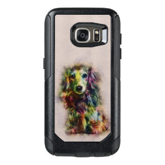 Dachshund Puppy Sketch Paint OtterBox Samsung Galaxy S7 Case