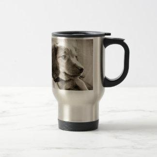 Dachshund puppy travel mug