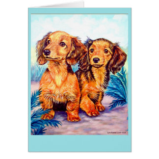 Dachshund Pups Greeting Cards