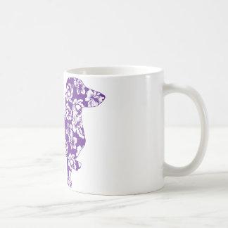 Dachshund púrpura de Doxie de la hawaiana Taza De Café