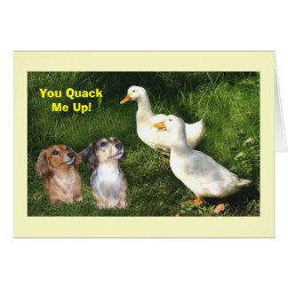 Dachshund Quack Card