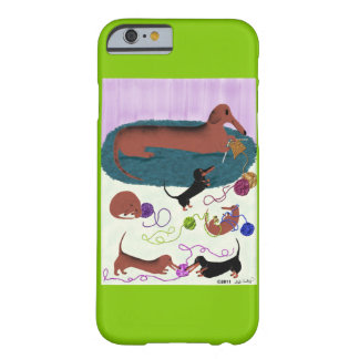 Dachshund que hace punto funda de iPhone 6 barely there