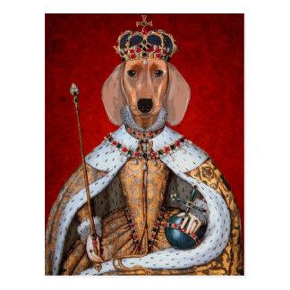 Dachshund Queen Postcard