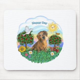 Dachshund (red or brown) mouse pad