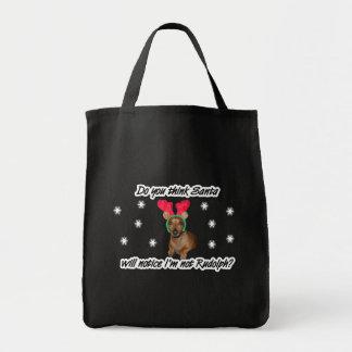 Dachshund Reindeer Bag