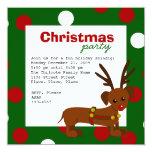 dachshund reindeer invitation