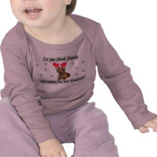 Dachshund Reindeer Kids Shirt shirt