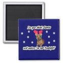 Dachshund Reindeer Magnet magnet