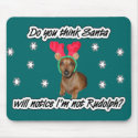 Dachshund Reindeer Mouse Pad mousepad