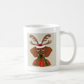 Dachshund Reindeer Classic White Coffee Mug