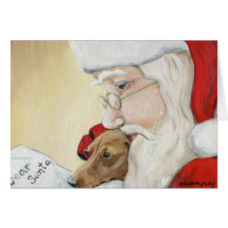 """Dachshund Request for Santa"" Art Christmas Card"