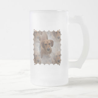 Dachshund Rescue Frosted Beer Mug