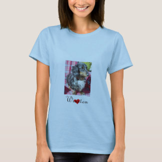 Dachshund Rescue - Portrait Womens T-Shirt