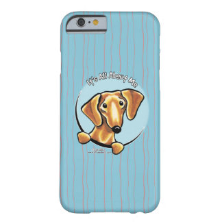 Dachshund rojo liso IAAM Funda De iPhone 6 Barely There