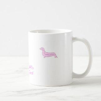 Dachshund rosado taza clásica