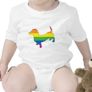 Dachshund/salchicha de Frankfurt del orgullo gay Traje De Bebé