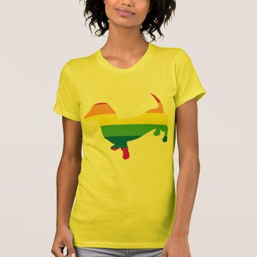 Dachshund/salchicha de Frankfurt del orgullo gay Camisetas