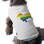 Dachshund/salchicha de Frankfurt del orgullo gay Camisas De Perritos