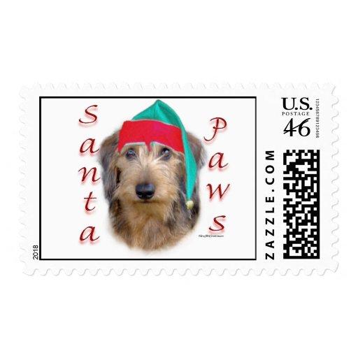 Dachshund Santa Paws Stamps