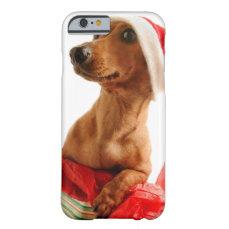Dachshund santa - santa dog - dog gifts barely there iPhone 6 case