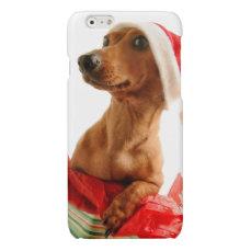 Dachshund santa - santa dog - dog gifts glossy iPhone 6 case