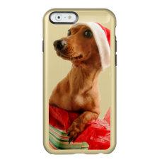 Dachshund santa - santa dog - dog gifts incipio feather shine iPhone 6 case