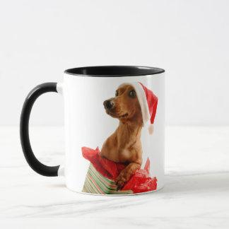 Dachshund santa - santa dog - dog gifts mug