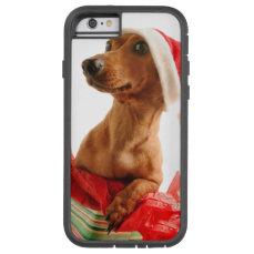 Dachshund santa - santa dog - dog gifts tough xtreme iPhone 6 case