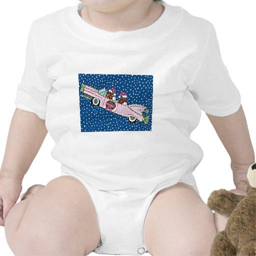 Dachshund Santas Christmas Cadillac Baby Bodysuits