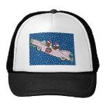 Dachshund Santas Christmas Cadillac Mesh Hats