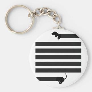 dachshund sausage dog keychain
