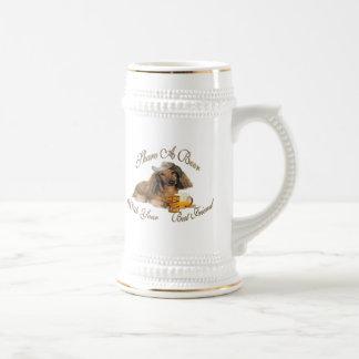 Dachshund Shares A Beer  Stein 18 Oz Beer Stein