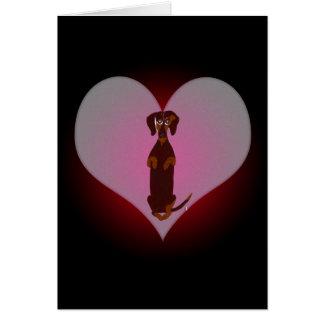 Dachshund Sidney mi tarjeta del corazón
