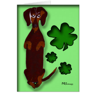 Dachshund Sidney St. Patrick's Day Card