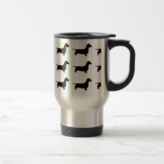 Dachshund Silhouette 15 Oz Stainless Steel Travel Mug
