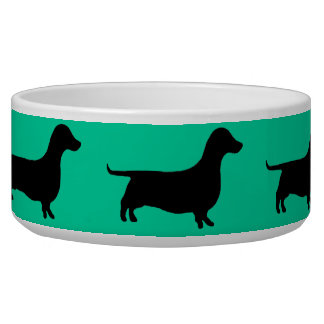 Dachshund Silhouette any color Bowl