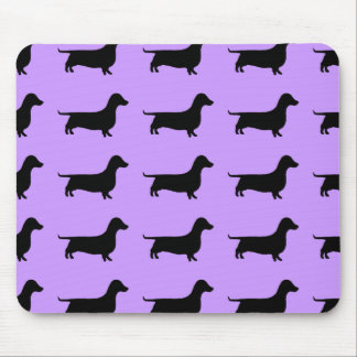 Dachshund Silhouette any color Mouse Pad