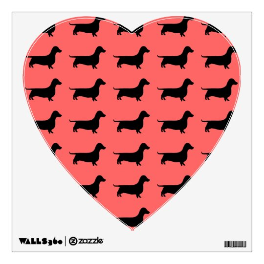 Dachshund Silhouette any color Wall Sticker