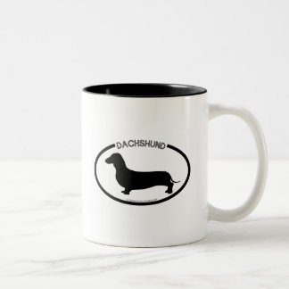 Dachshund Silhouette Black Mug