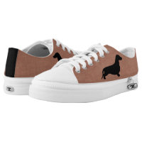 Dachshund silhouette black   your ideas Low-Top sneakers