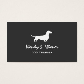 Dachshund Silhouette Business Card